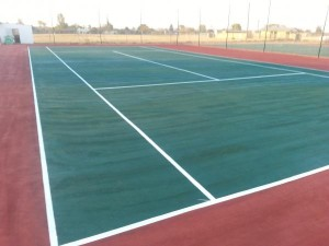 tennis courts construction Marais Steyn Park